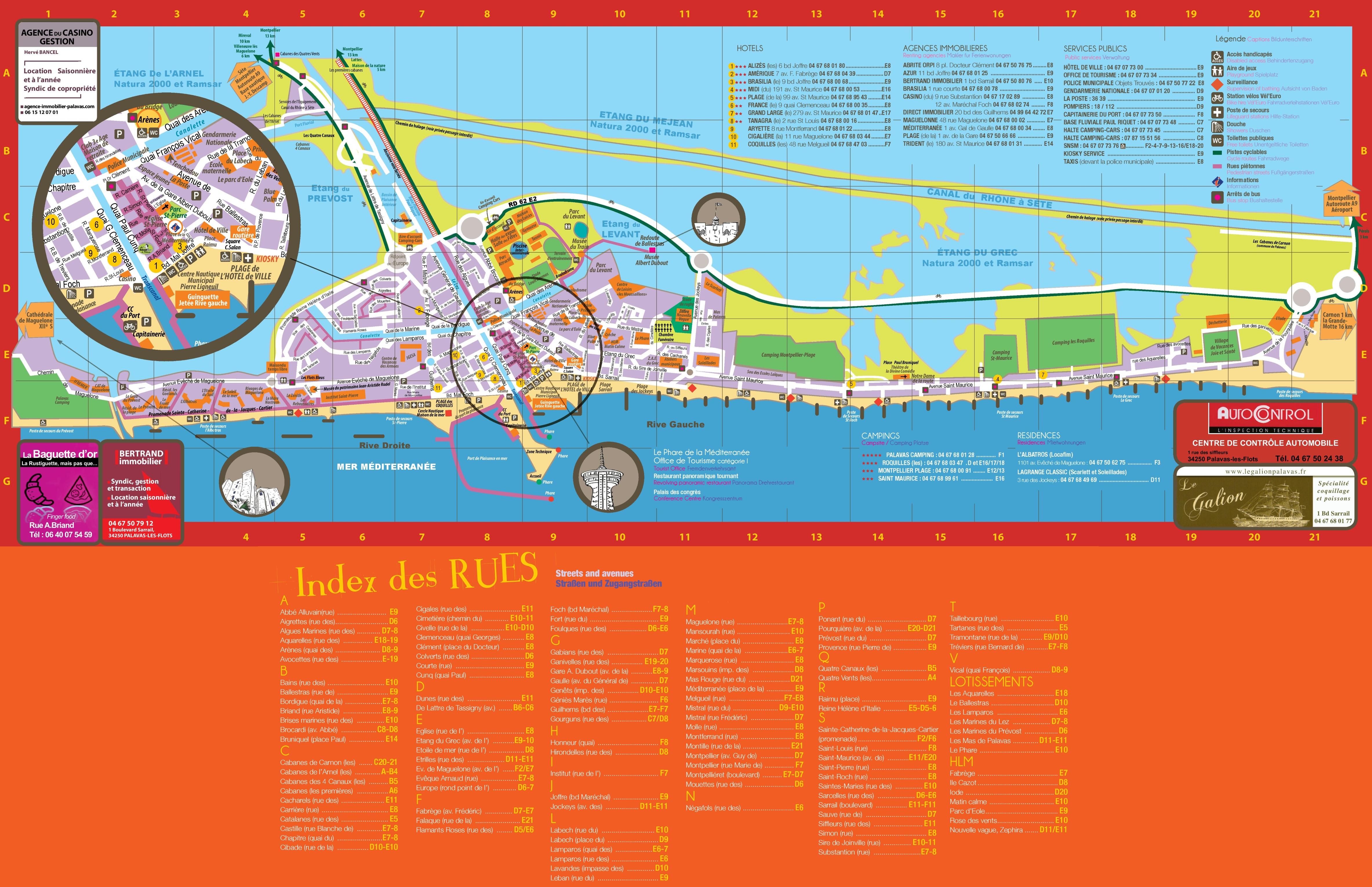 PalavaslesFlots tourist map
