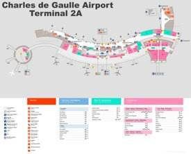 Charles de Gaulle Airport Terminal 2A Map