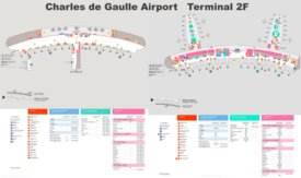 Charles de Gaulle Airport Terminal 2F Map