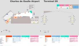 Charles de Gaulle Airport Terminal 2G Map
