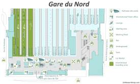 Gare du Nord Map