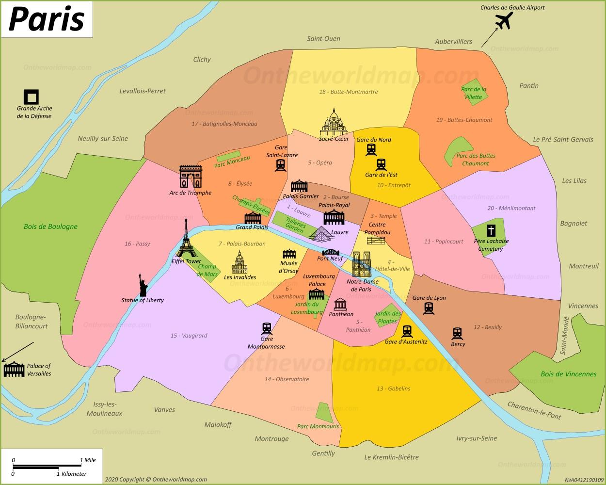 Map Of France With Paris.Paris Map France Maps Of Paris