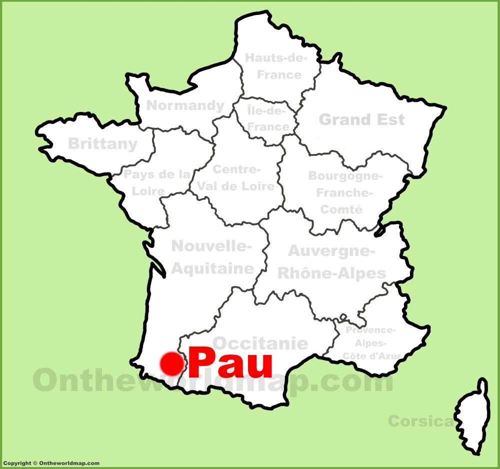 Pau location on the France map