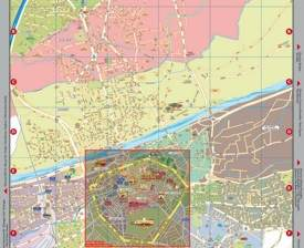 Large detailed tourist map of Perpignan