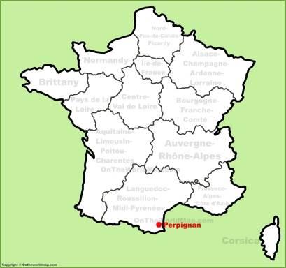 Perpignan Location Map