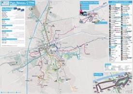 Perpignan transport map
