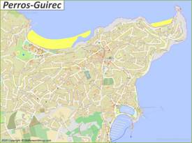 Detailed Map of Perros-Guirec