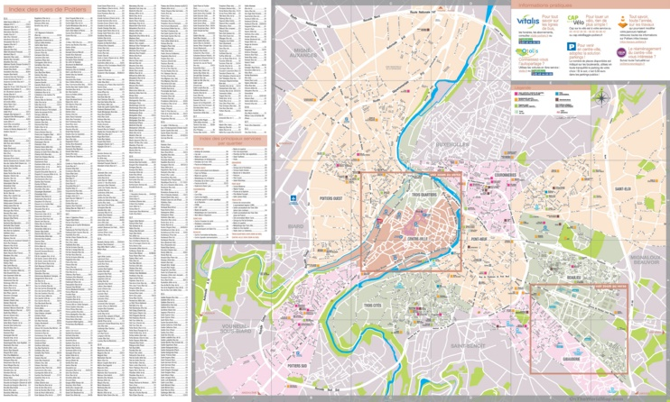 Poitiers tourist map