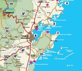Porto-Vecchio area map