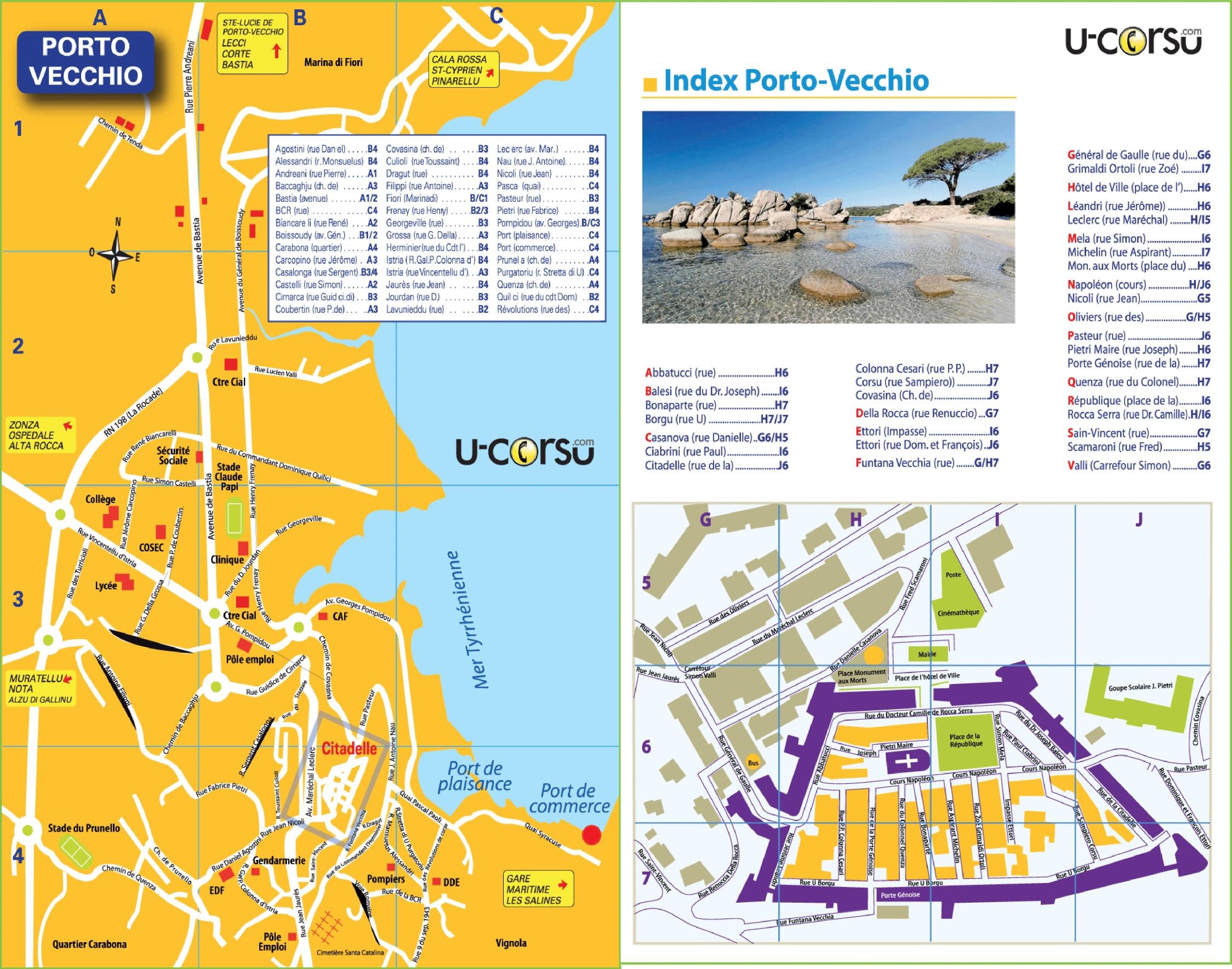 Porto-Vecchio tourist map