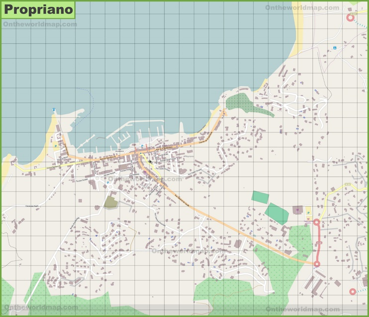 Detailed map of Propriano