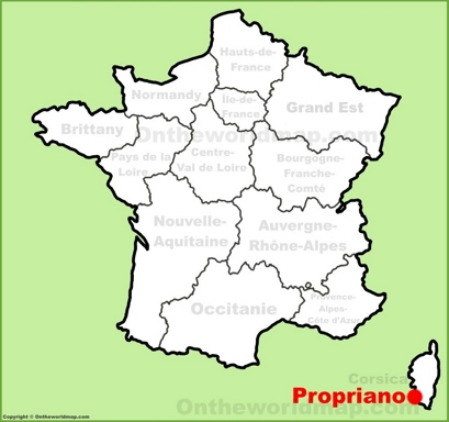 Propriano Location Map