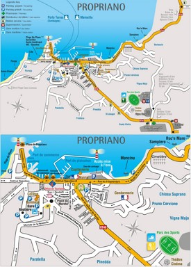 Propriano Maps Corsica France Maps of Propriano