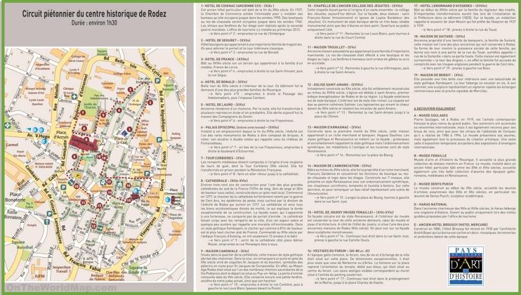 Rodez city center map