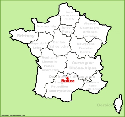 Rodez Location Map
