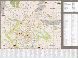 Rodez tourist map
