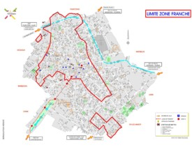 Roubaix city center map