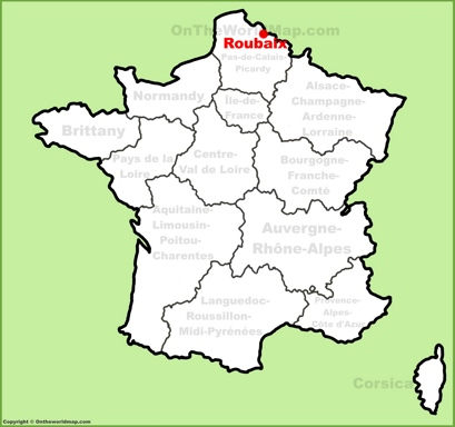 Roubaix Location Map