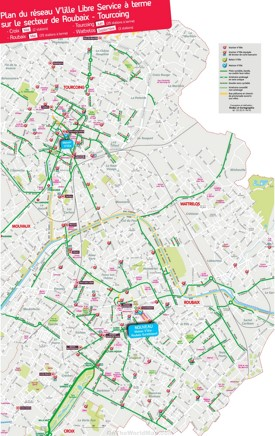 Roubaix tourist map
