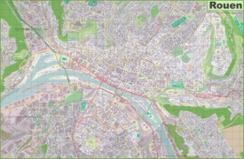 Large detailed map of Rouen