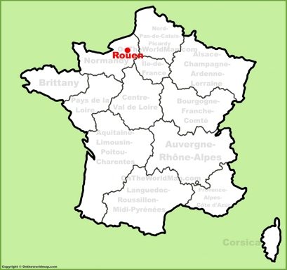 Rouen Location Map