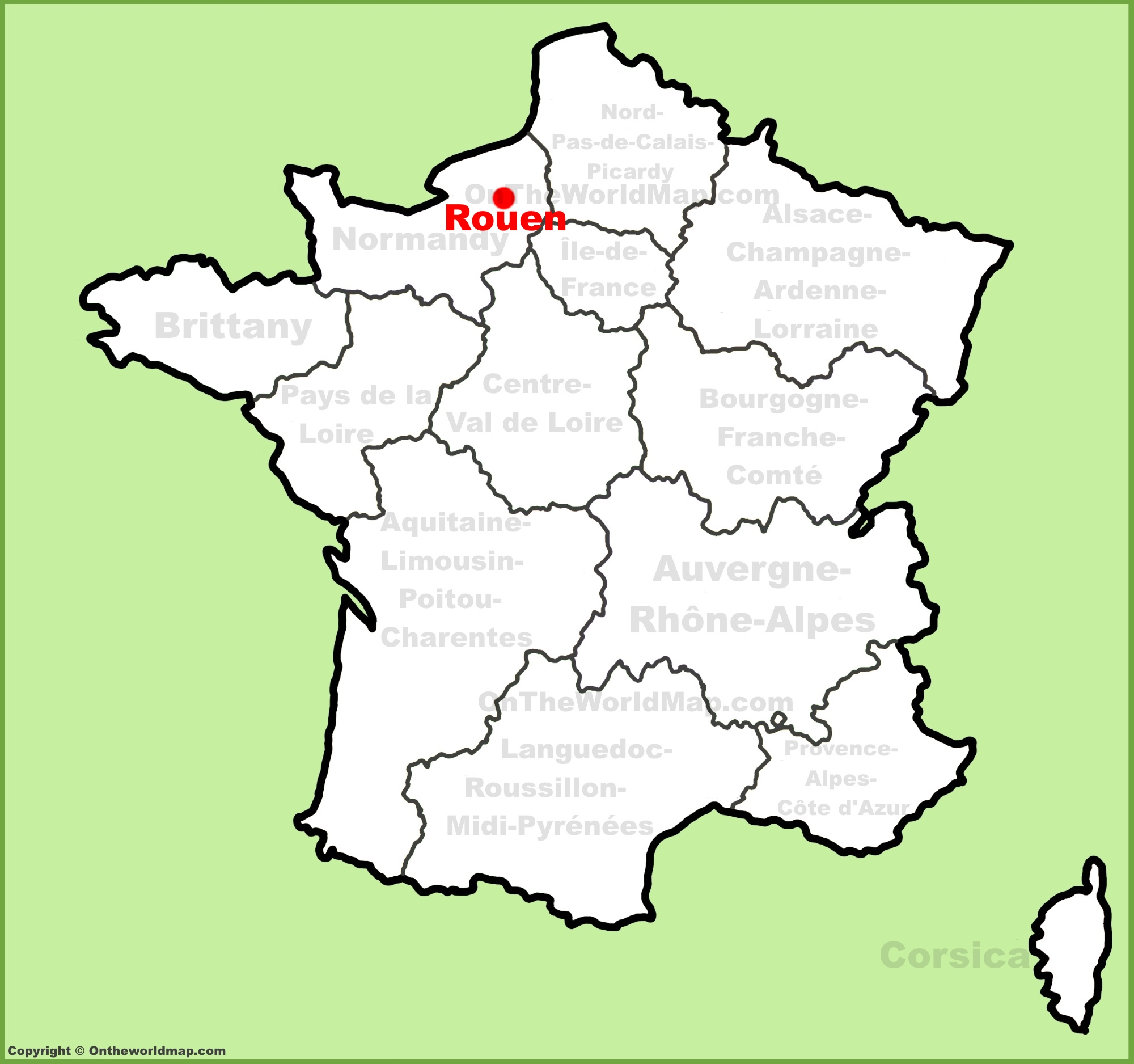 Rouen location on the France map
