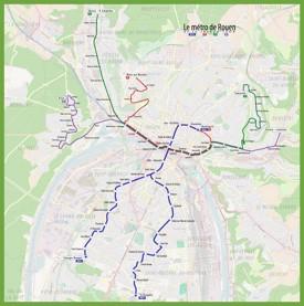 Rouen metro map