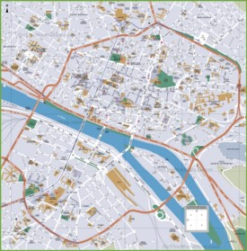 Rouen tourist map
