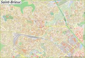 Detailed Map of Saint-Brieuc