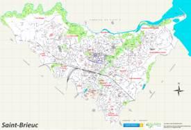 Large Detailed Tourist Map of Saint-Brieuc