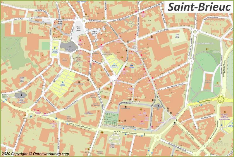 Map of Saint-Brieuc