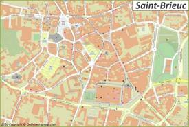 Saint-Brieuc City Center Map