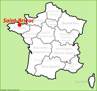 Saint-Brieuc Location Map