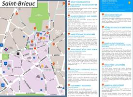 Saint-Brieuc Old Town Map