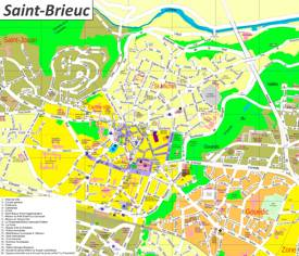 Saint-Brieuc Tourist Map