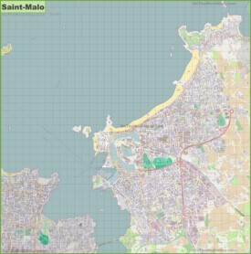 Large detailed map of Saint-Malo