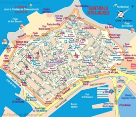 Saint-Malo tourist map