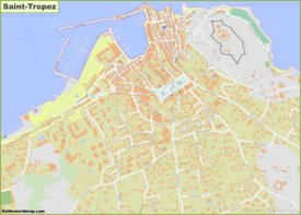 Large detailed map of Saint-Tropez