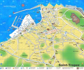 Saint-Tropez hotels and tourist attractions map