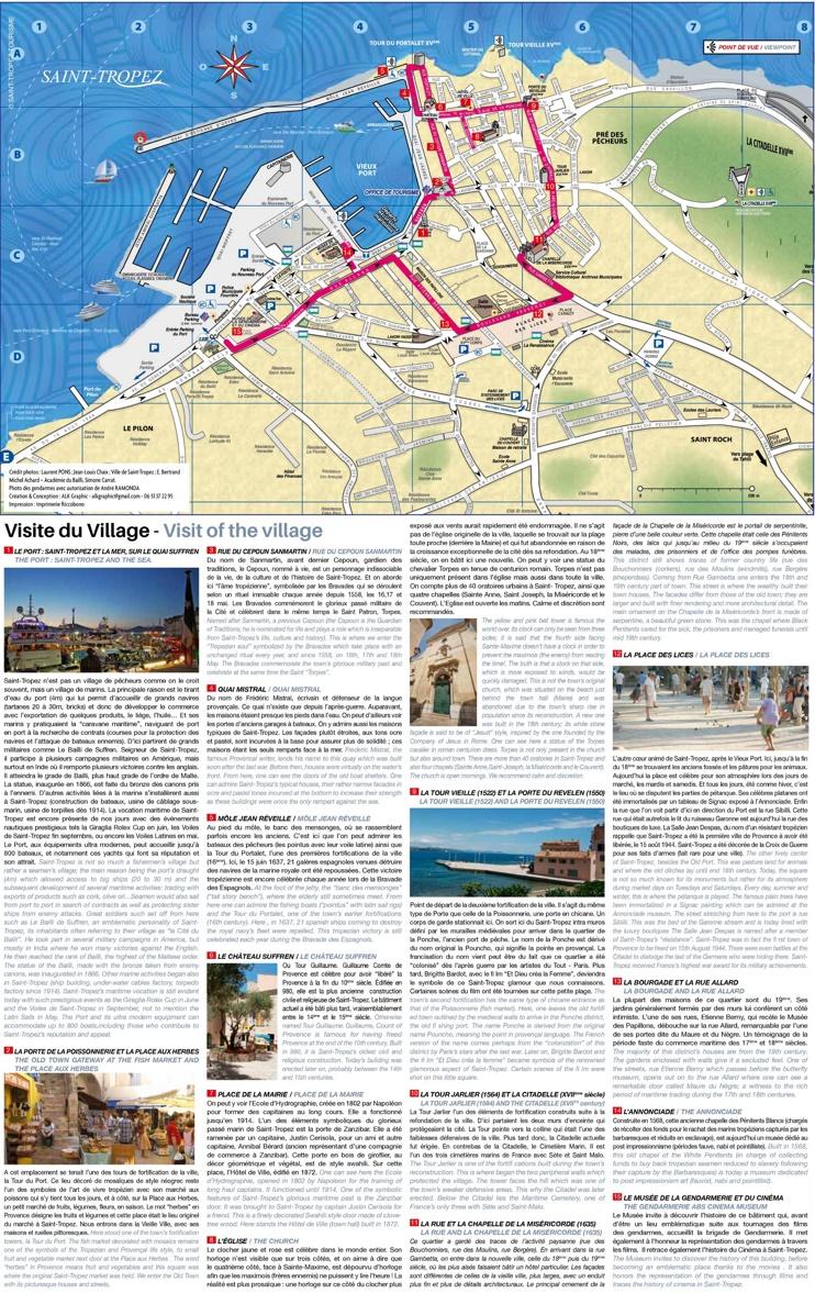 Saint-Tropez sightseeing map