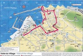 Saint-Tropez sightseeing map