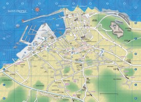Saint-Tropez tourist map