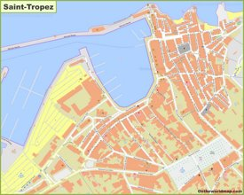 Saint-Tropez town center map