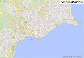 Detailed Map of Sainte-Maxime