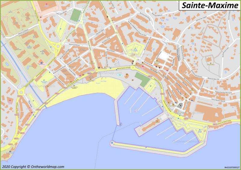Map of Sainte-Maxime