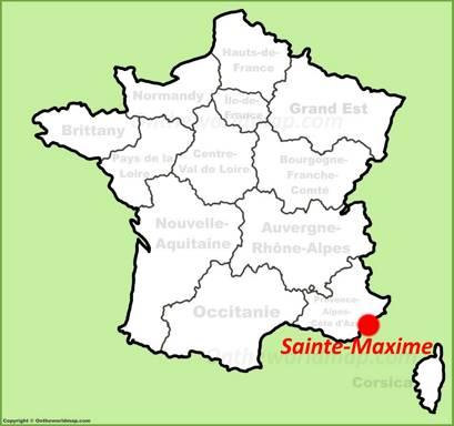 Sainte-Maxime Location Map