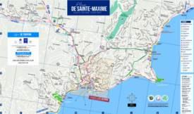 Sainte-Maxime Sightseeing Map
