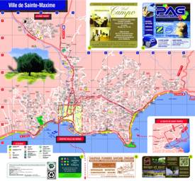 Sainte-Maxime Tourist Attractions Map