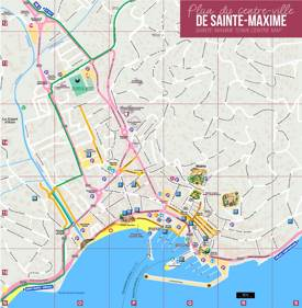 Sainte-Maxime Tourist Map
