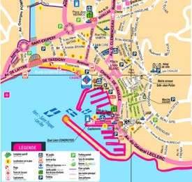 Tourist Map of Sainte-Maxime City Centre
